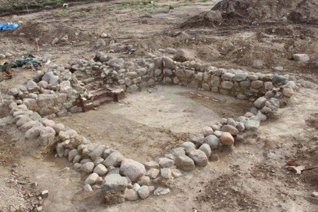 Excavation of an extremely well-preserved cellar, which may have functioned as a place to store the town's taxes.