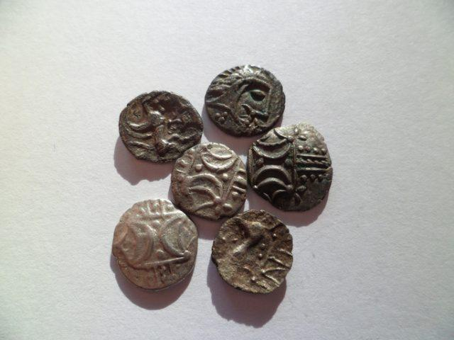 Collection of 1st century Boudicca Iceni hammered coins.