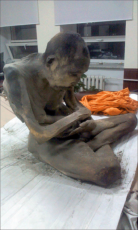 "It was not uncommon for monks to practise self-mummification but to find a mummified monk inside a statue is really extraordinary,"" said Wilfrid Rosendahl"