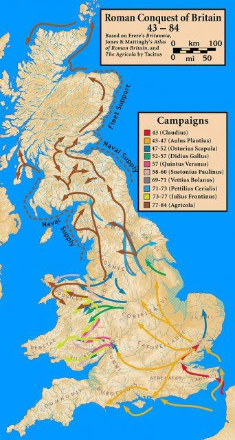 Roman conquest of Britain.