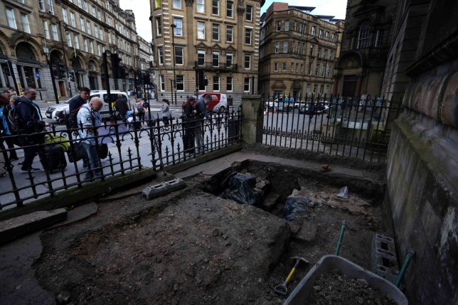 Part of Hadrian's Wall is discovered in Newcastle city center