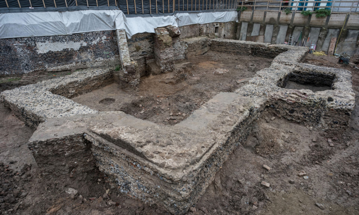 archaeologists discovered a Roman-era structure with mysterious niches near a Protestant church in Cologne, Germany.