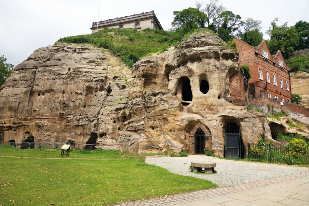 The caves at Nottingham Castle, where the ghost of Roger Mortimer has supposedly been spotted.