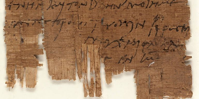 World's Oldest Christian Letter Found On 3rd Century Egyptian Papyrus