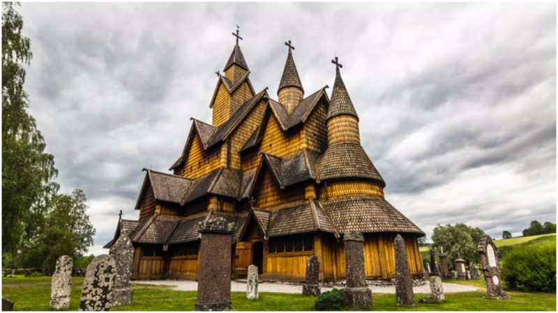 Heddal stave church is the largest in Norway, and according to a legend it was built in three days by five farmers