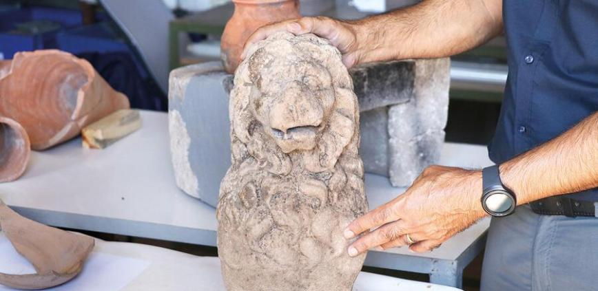 2,200-Year-Old Lion Statue Unearthed in Turkey